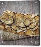 Sliced Pizza With Eggplants Acrylic Print