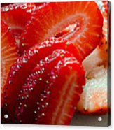 Sliced Strawberries Acrylic Print