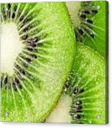 Slices Of Juicy Kiwi Fruit Acrylic Print