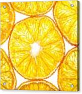 Slices Orange. Acrylic Print by Slavica Koceva
