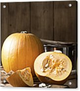 Slicing Pumpkins Acrylic Print