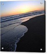Sliding Down - Sunset Beach California Acrylic Print
