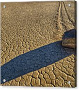 Sliding Rock Of Racetrack Playa Acrylic Print