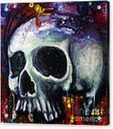 Sloppy Skull Acrylic Print