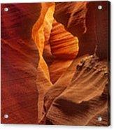 Slot Canyon Detail Corkscrew Or Upper Antelope Slot Canyon Arizona Acrylic Print