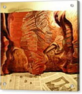 Slot Canyon 3d Wall Hanging Acrylic Print