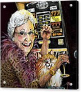 Slot Machine Queen Acrylic Print