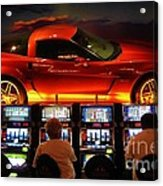 Slots Players In Vegas Acrylic Print