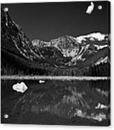 Slough Lake 3 Bw Acrylic Print by Roger Snyder
