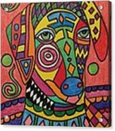 Sloughi Dog Acrylic Print by Carol Hamby