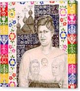 Slovak Grandmother Acrylic Print by Diana Perfect
