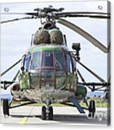 Slovakian Mi-17 With Digital Camouflage Acrylic Print