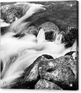 Slow Flow Black And White Acrylic Print