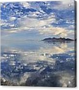 Slow Ripples Over The Shallow Waters Of The Great Salt Lake Acrylic Print