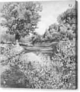 Slow River  Acrylic Print