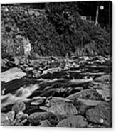 Slow River Acrylic Print by Lesley Rigg