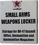 Small Arms Signage Russian Submarine Acrylic Print