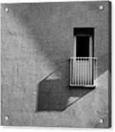 Small Balcony And Its Shadow Acrylic Print