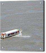 Small Boat On The Amazon Acrylic Print