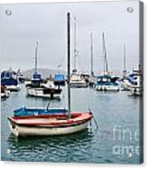 Small Boats At Lyme Regis Harbour Acrylic Print
