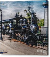 Small Boy Waiting For Steam Engine Acrylic Print