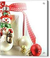 Small Christmas Ornament With Gift Acrylic Print