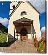 small church in Penia Acrylic Print