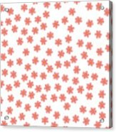 Small Colored Flowers On A White Background For Prints Postcards Greeting Cards