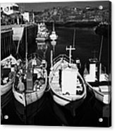 small fishing boats in bunbeg harbour county Donegal Republic of Ireland Acrylic Print