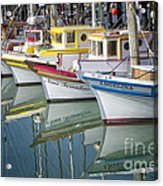 Small Fishing Boats Of San Francisco  Acrylic Print by George Oze