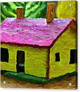 Small-house- Painting Acrylic Print