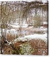 Small Lake In The Snow Acrylic Print