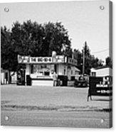 small roadside diner leader Saskatchewan Canada Acrylic Print
