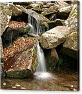 Small Rock Falls Acrylic Print
