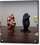 Small Sculptures  Acrylic Print by Wynter Peguero