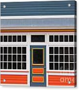 Small Store Front Entrance Colorful Wooden House Acrylic Print