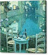 Small Table In Evening Dusk Acrylic Print