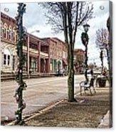 Small Town Christmas Acrylic Print