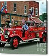 Small Town Fourth Of July Acrylic Print