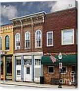 Small Town Main Street Shops Acrylic Print