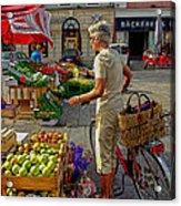 Small Town Market Acrylic Print