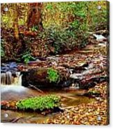 Small Waterfall And Stream 2 Acrylic Print