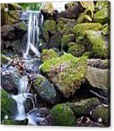Small Waterfall In Marlay Park Dublin Acrylic Print