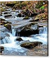 Small Waterfall In Western Pennsylvania Acrylic Print