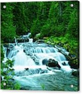 Small Waterfall On The Paradise River Acrylic Print