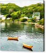 Small Yellow Boats Acrylic Print