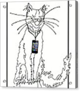 Smart Phone Cat Acrylic Print