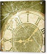 Smashed Clock Face Acrylic Print