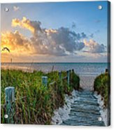 Smathers Beach Sunrise Acrylic Print