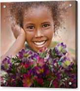 Smile 2 Acrylic Print by Kume Bryant